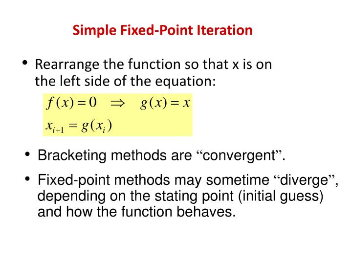 PPT - Simple Fixed-Point Iteration PowerPoint Presentation