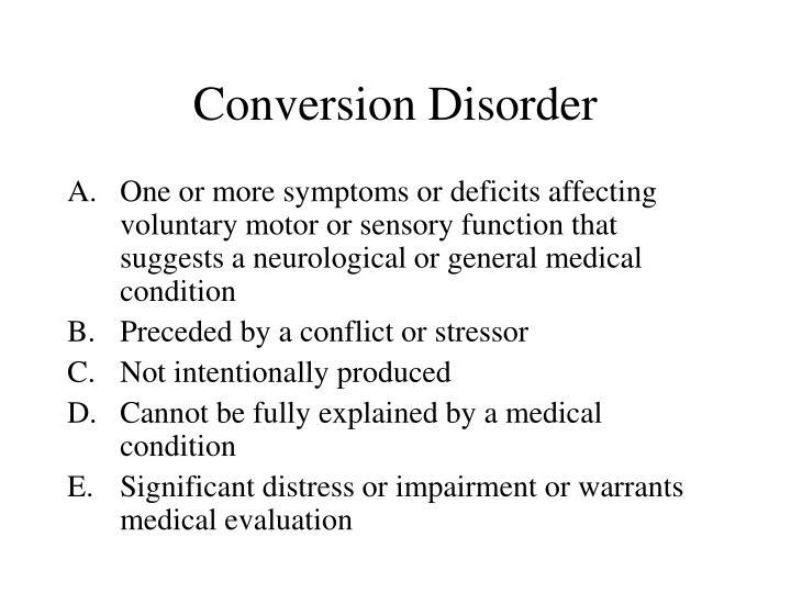 Conversion Disorder