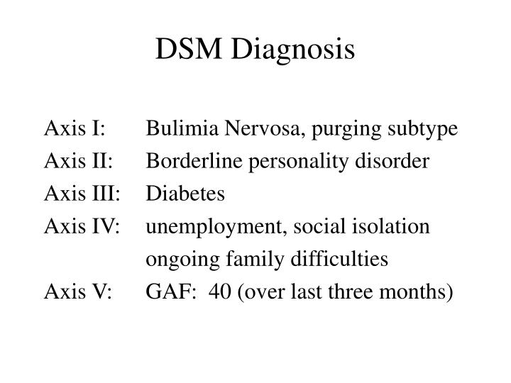 DSM Diagnosis