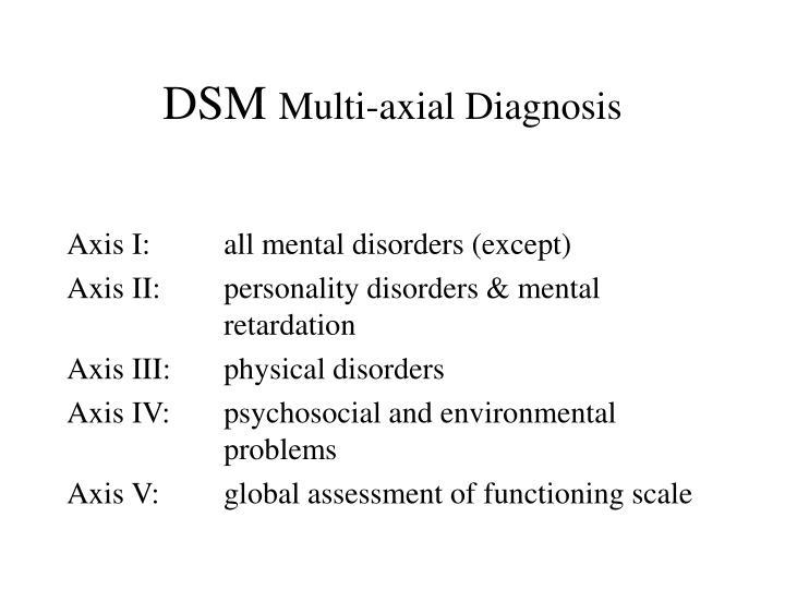 Dsm multi axial diagnosis