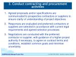 3 conduct contracting and procurement activities