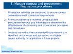 5 manage contract and procurement finalisation procedures