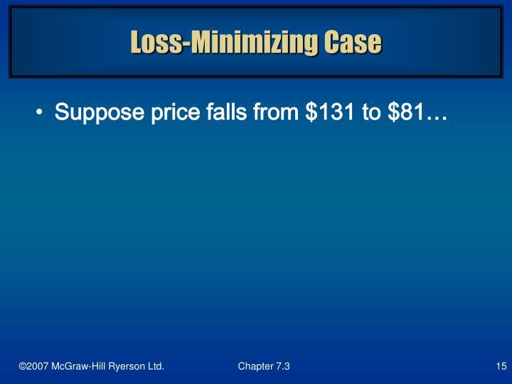 Loss-Minimizing Case