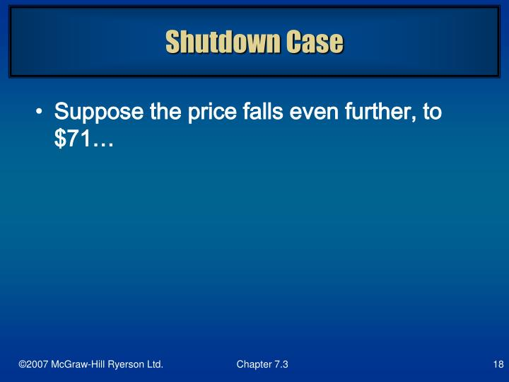 Shutdown Case