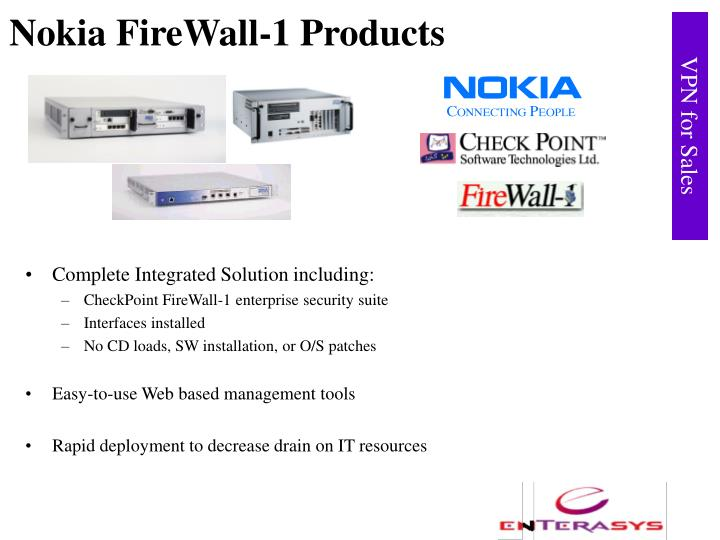 Nokia firewall 1 products