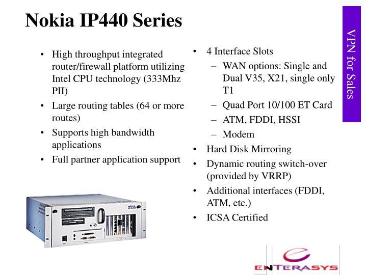 High throughput integrated router/firewall platform utilizing Intel CPU technology (333Mhz PII)