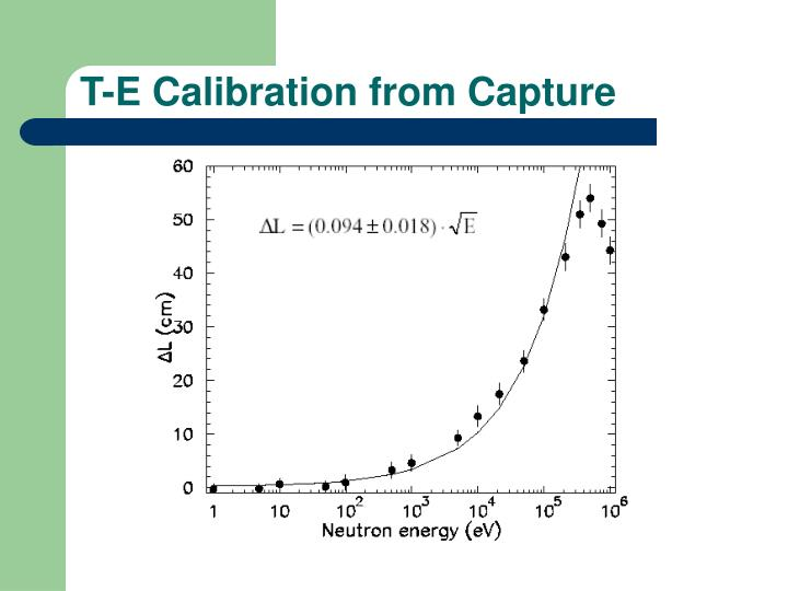 T-E Calibration from Capture
