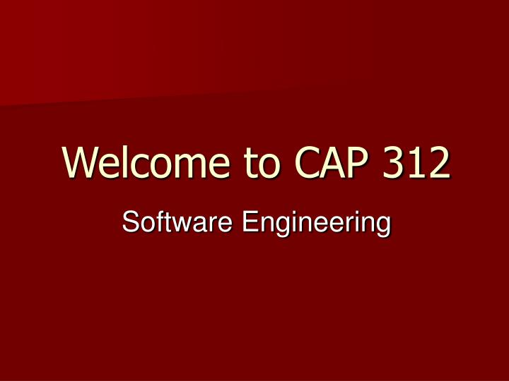 welcome to cap 312 n.