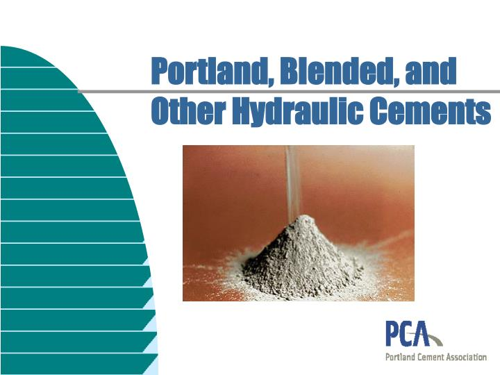 portland blended and other hydraulic cements n.