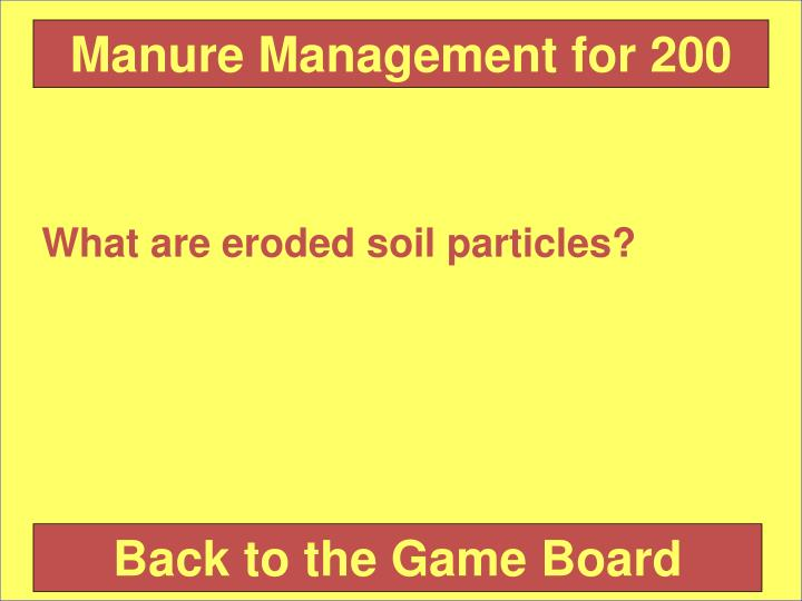 Manure Management for 200