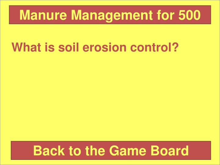 Manure Management for 500