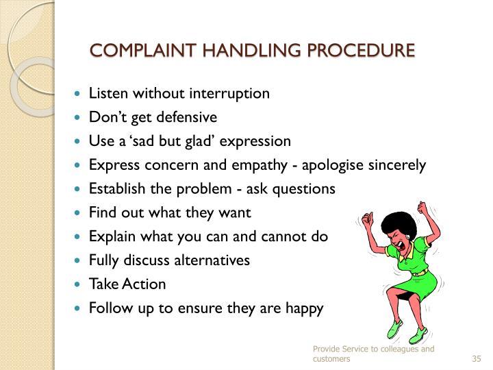 COMPLAINT HANDLING PROCEDURE