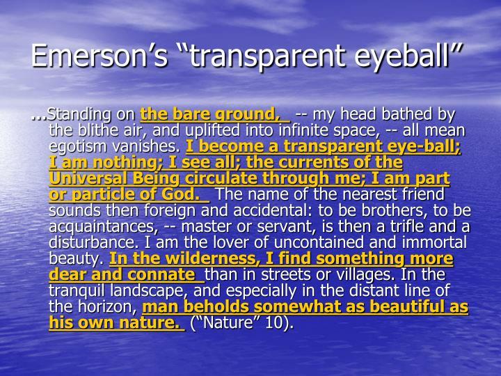 "Emerson's ""transparent eyeball"""