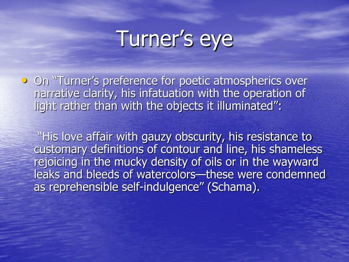 Turner s eye