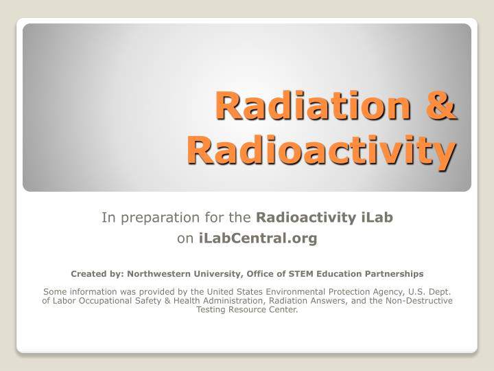 radiation radioactivity n.