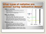 what types of radiation are emitted during radioactive decay