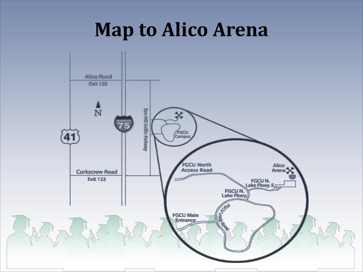 Map to Alico Arena