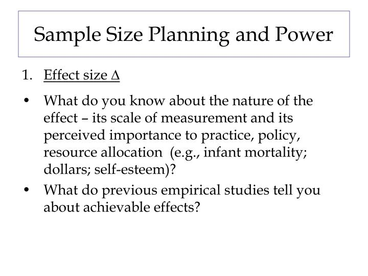 Sample Size Planning