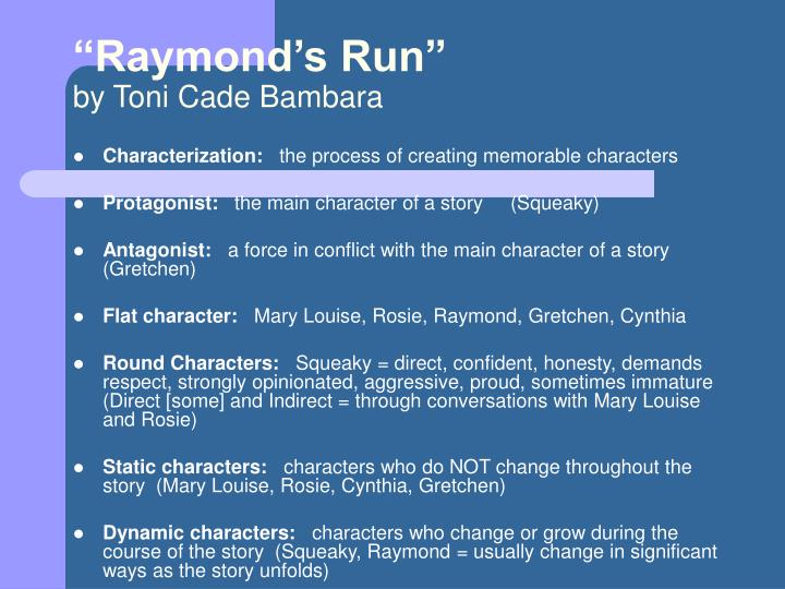 Raymond s run by toni cade bambara1