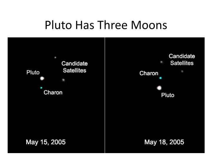 Pluto Has Three Moons