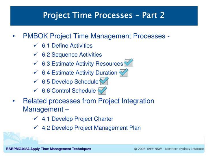 Project time processes part 2