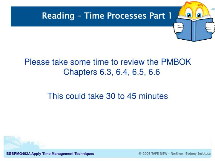 Reading – Time Processes Part 1
