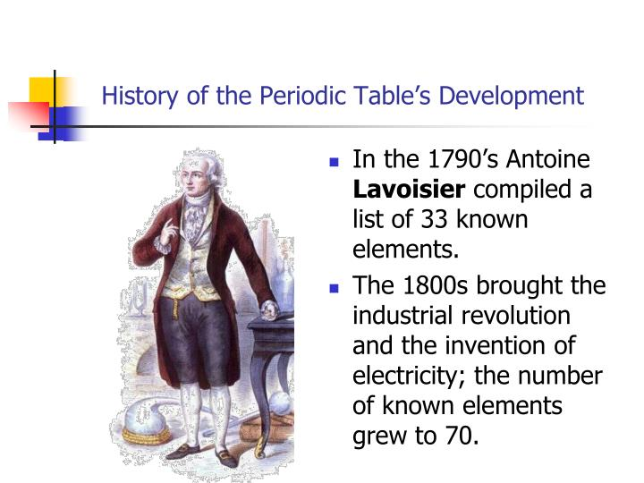 Ppt the periodic table and periodic law powerpoint presentation history of the periodic tables development urtaz Images