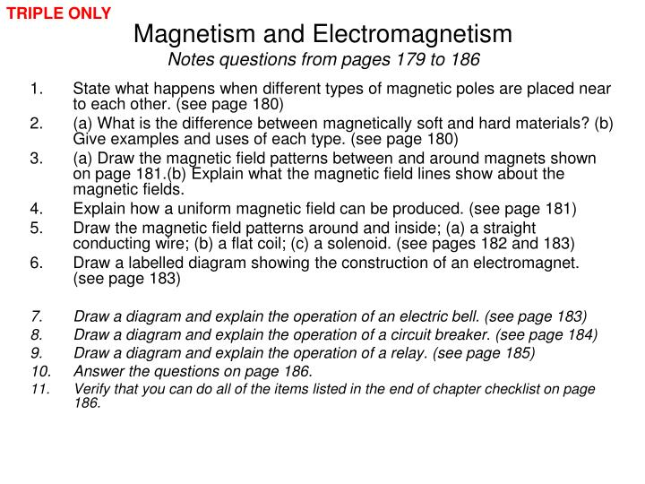 Ppt Edexcel Igcse Certificate In Physics 6 1 Magnetism And