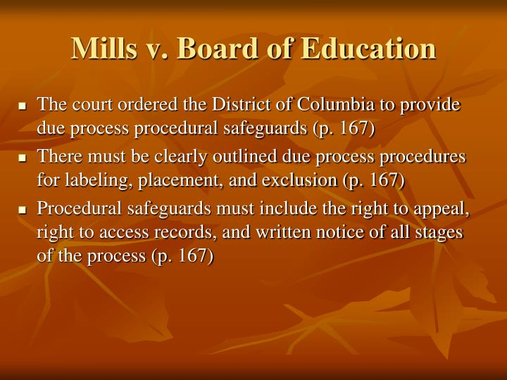 Mills v. Board of Education