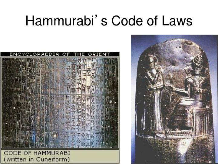 hammurabi a king of babylon who codified a complex law system The code of hammurabi refers to a set of rules or laws enacted by the babylonian king hammurabi (reign 1792-1750 bc) the code governed the people living in his fast-growing empire.