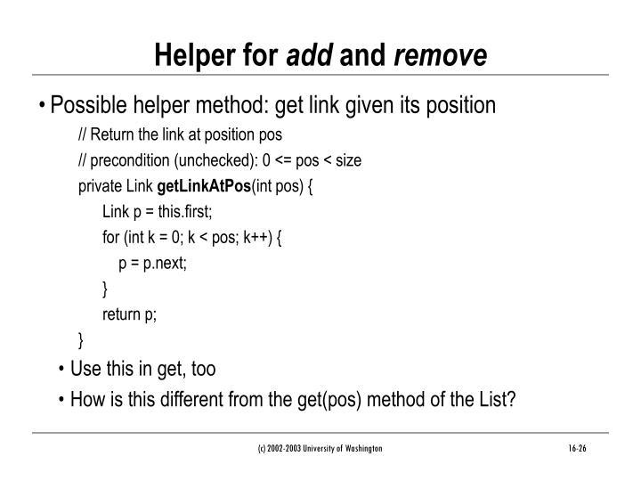 Helper for