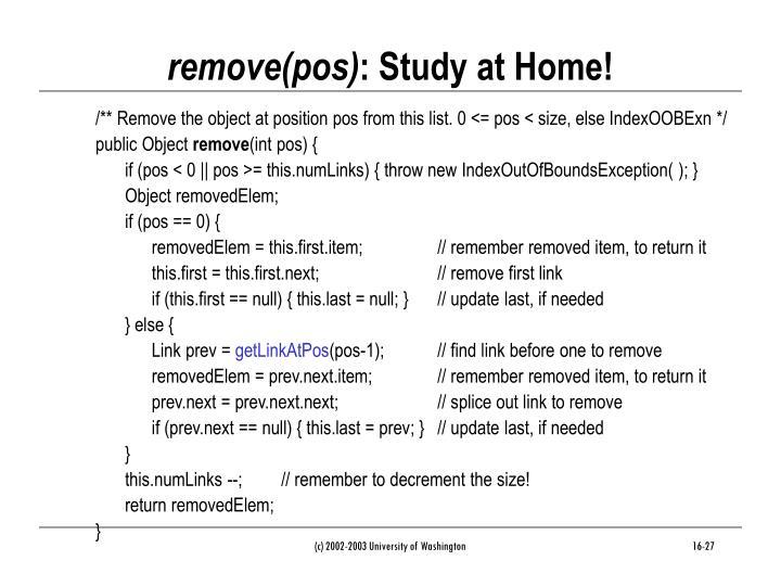 remove(pos)