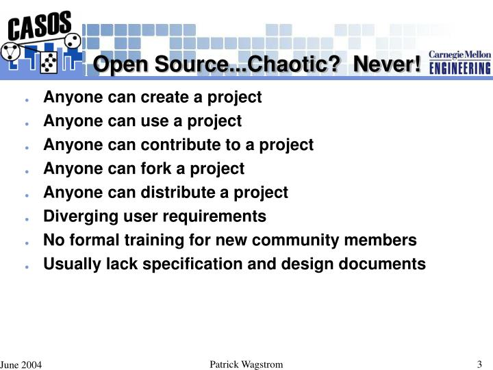 Open source chaotic never