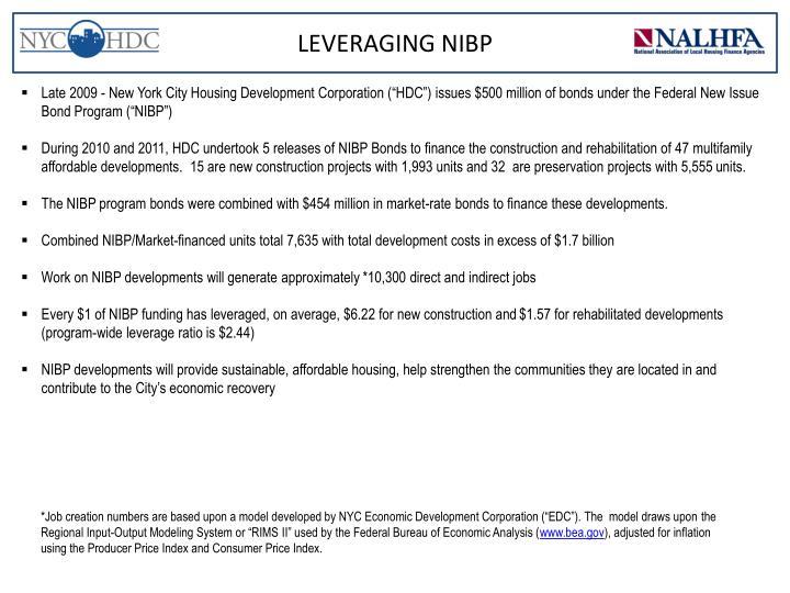 LEVERAGING NIBP