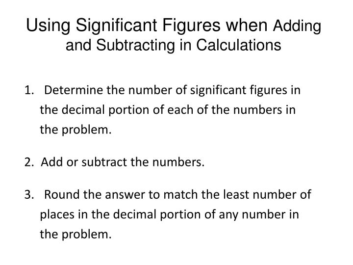 Using Significant Figures when