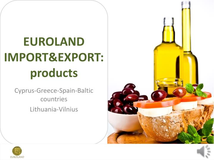euroland import export products n.