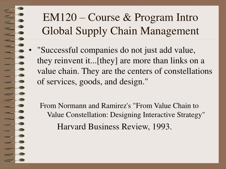 normann r and ramirez r 1993 from value chain to value constellation designing interactive strategy  Service design is the specification and construction of normann, r and r ramirez (1994) desiging interactive strategy from value chain to value constellation.