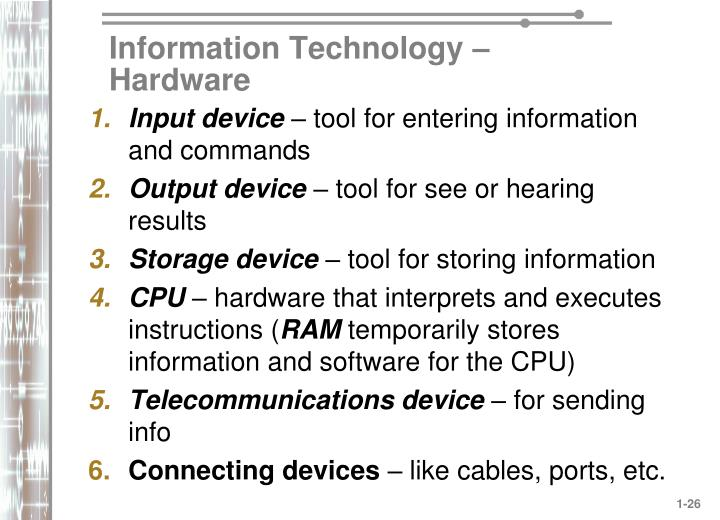 Information Technology – Hardware