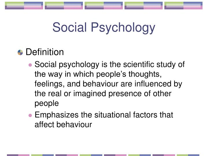 Social psychology1