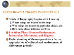 fundamental themes in geography