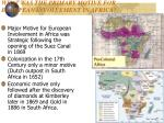 what was the primary motive for european involvement in africa