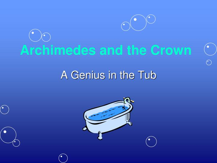 archimedes and the crown n.