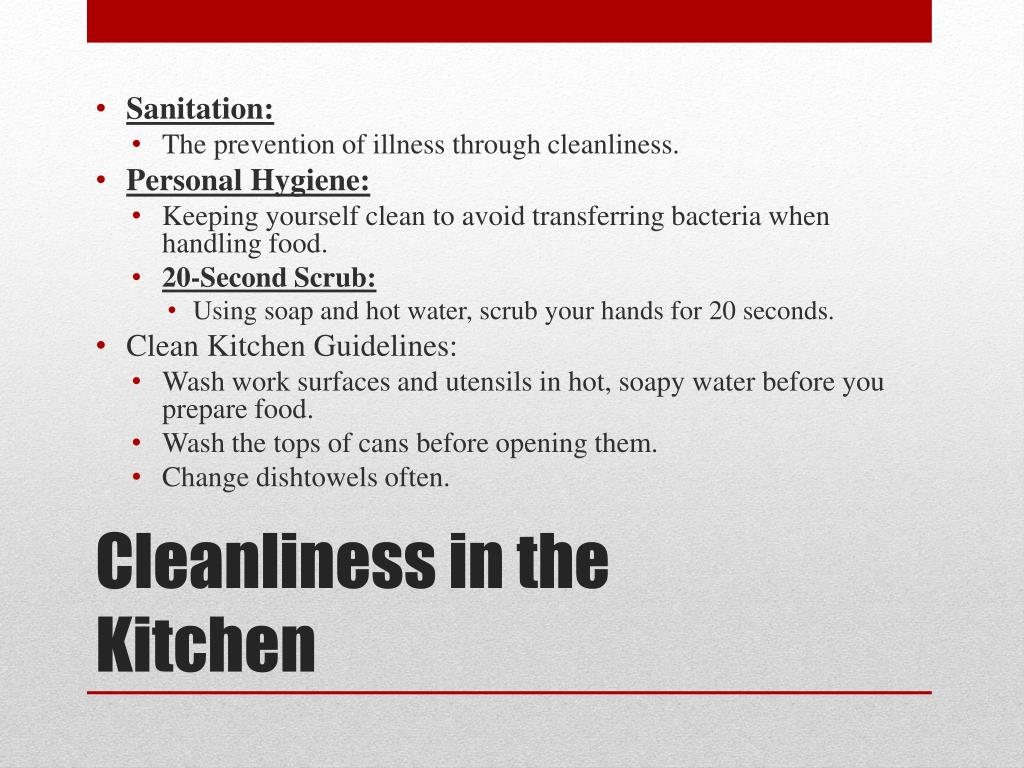 Kitchen Sanitation Guidelines - Kitchen Appliances Tips And