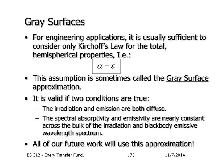 Gray Surfaces