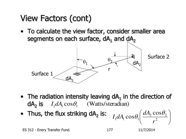 View Factors (cont)