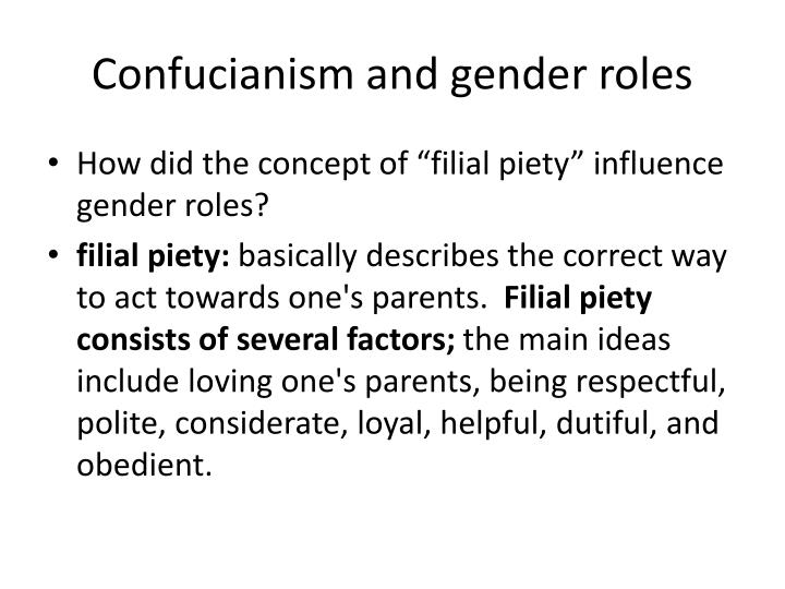 Confucianism and gender roles