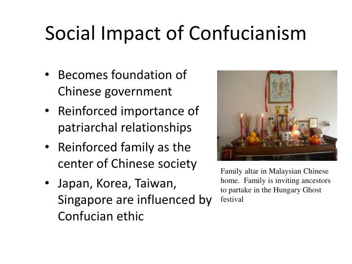 Social Impact of Confucianism