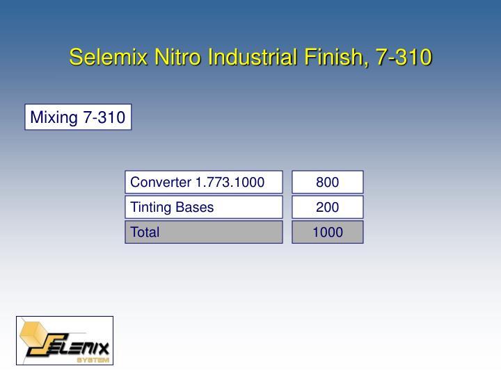 Selemix nitro industrial finish 7 3102