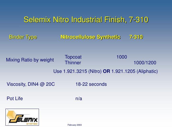 Selemix Nitro Industrial Finish, 7-310