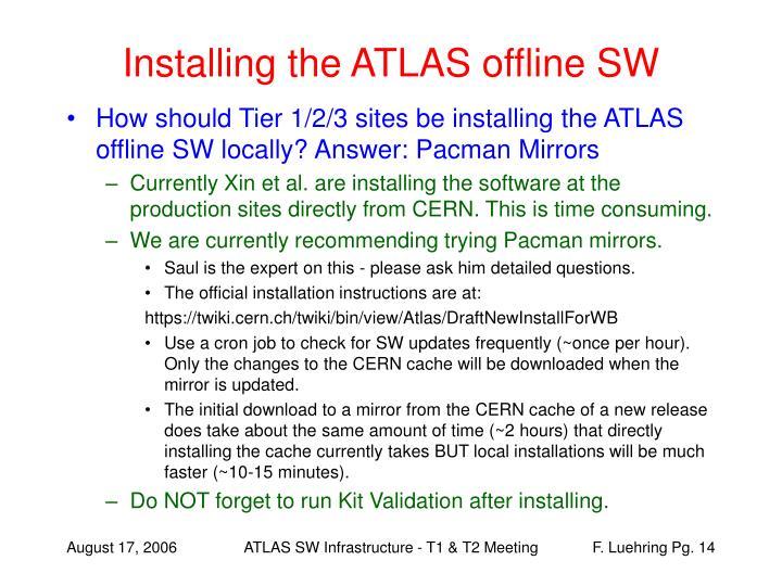 Installing the ATLAS offline SW